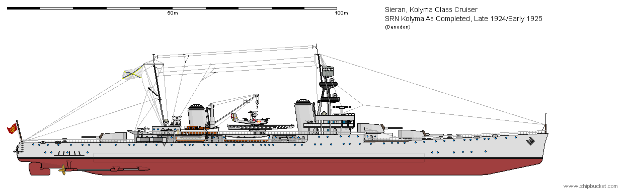 SRN Kolyma as Completed Late 1924/Early 1925